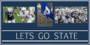Home Football Game Prints - Lets Go State Print by Gallery Three