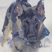 Domestic Dogs Painting Prints - Lets Play Print by Sheila Wedegis