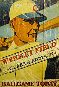 Wrigley Field Posters - Lets Play Two Poster by David Bearden