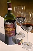 Italian Wine Painting Metal Prints - Lets Reminisce Metal Print by Brien Cole