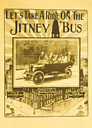 Book Title Art - Lets Take A ride On A Jitney Bus by Steven Parker