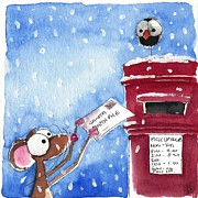 Letter Box Art - Letter to Santa by Lucia Stewart