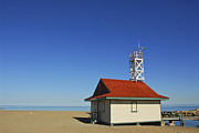 Cloudless Posters - Leuty Lifeguard Station in Toronto Poster by Elena Elisseeva