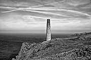 Sights Art - Levant to Pendeen View Black and White by Chris Thaxter