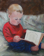 Bedtime Paintings - Levis Bedtime Story by Carol Berning