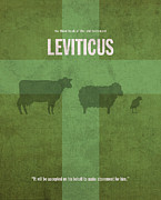 Jew Prints - Leviticus Books of the Bible Series Old Testament Minimal Poster Art Number 3 Print by Design Turnpike