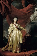 Catherine The Great Framed Prints - Levitski, Dmitri Grigorievich Framed Print by Everett