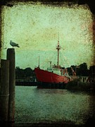 Repaired Posters - Lewes - Overfalls Lightship 1 Poster by Richard Reeve