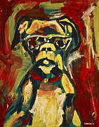 Boxer Painting Prints - Lewis Print by Jennifer Anne Harper