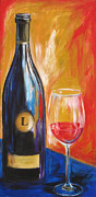 Wine Bottle Paintings - Lewis by Sheri  Chakamian