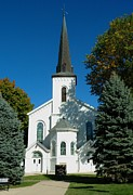 Lewistown Prints - Lewistown First Presbyterian Church I Print by Bob Fromm