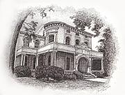 Historic Home Drawings Originals - Lexington Kentucky 1 by Tanya Crum