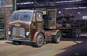 Old Paintings - Leyland Beaver artic. by Mike  Jeffries