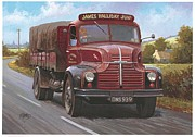 Comet Paintings - Leyland Comet 1948 by Mike  Jeffries