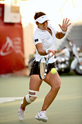 Tennis Player Metal Prints - Li Na in Doha Metal Print by Paul Cowan
