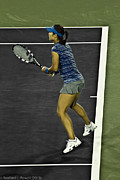 Wta Tennis Framed Prints - Li Na Framed Print by Rexford L Powell
