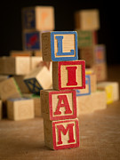 Alphabet Metal Prints - LIAM - Alphabet Blocks Metal Print by Edward Fielding