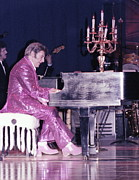 Pianists Prints - Liberace Piano Candelabra 1970 - We Will Be Seeing You Lee Liberace Print by Wayne Nielsen