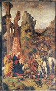 Shepherds Framed Prints - Liberale Da Verona, Adoration Framed Print by Everett