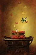 Tibet Painting Prints - Liberation - Tibetan Dream Print by Lori  McNee