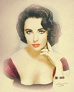 Elizabeth Taylor Paintings - Liberian Girl by Mo T