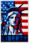 Flag Of Usa Prints - Liberty 1 Print by Angelina Vick