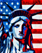 Patriotic Mixed Media - Liberty 2 by Angelina Vick