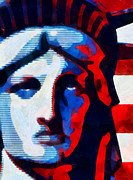 Lady Liberty Mixed Media Prints - Liberty 3 Print by Angelina Vick
