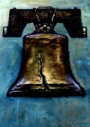Independence Mixed Media Metal Prints - Liberty Bell Metal Print by Craig Green
