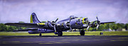 Ww Ii Framed Prints - LIBERTY BELLE B17 FLYING FORTRESS WWII BOMBER v2 Framed Print by F Leblanc