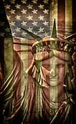 Independence Mixed Media - Liberty by Todd and candice Dailey