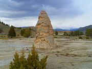 Yellowstone Mixed Media - Liberty Cap - Mammoth Hot Springs - Yellowstone National Park by Photography Moments - Sandi