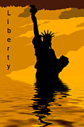 Liberty Island Digital Art - Liberty by David Pringle