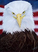 Eagle Painting Framed Prints - Liberty Eagle Framed Print by Debbie LaFrance