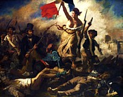 Liberty Paintings - Liberty Guiding The People by Pg Reproductions