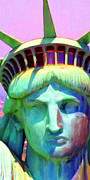 Fourth Of July Art Prints - Liberty Head Painterly 20130618 Long Print by Wingsdomain Art and Photography