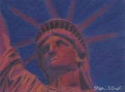 Icon  Pastels - Liberty in Red by Stephen Cheek II