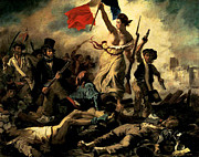 Liberty Paintings - Liberty Leading The People by Eugene Delacroix