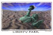 Statue Of Liberty Digital Art Metal Prints - Liberty Park Metal Print by Mike McGlothlen
