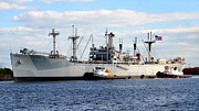 Tampa Bay Florida Prints - Liberty Ship  Print by David Lee Thompson