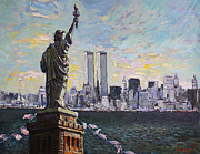 City Scape Metal Prints - Liberty Metal Print by Ylli Haruni