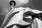 Statue Photo Prints - Libertys Gown Print by Keith Marsh