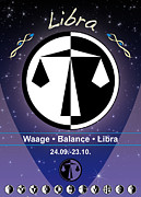 Sign Of Zodiac Digital Art - Libra by Fabian Roessler