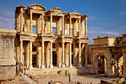 Ephesus Framed Prints - Library at Ephesus Framed Print by Brian Jannsen