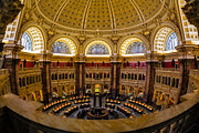 Library Of Congress Framed Prints - Library Of Congress Main Reading Room Framed Print by Susan Candelario