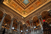Ceiling Prints - Library of Congress - Washington DC - 011314 Print by DC Photographer