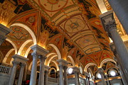 Basement Art Prints - Library of Congress - Washington DC - 011317 Print by DC Photographer