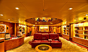 Library Digital Art - Library on Royal Caribbean Adventures of the Seas by Craig Bowman