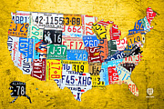 Design Turnpike - License Plate Art Map of...