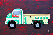 Usa Mixed Media - License Plate Art Pickup Truck by Design Turnpike